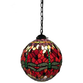 Warehouse of Tiffany Red Globe Table Lamp