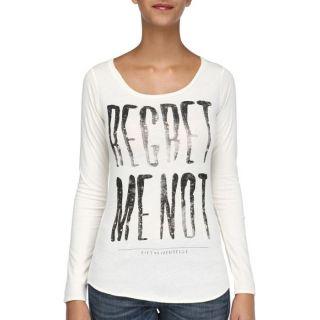 55DSL Tee Shirt Femme Crème   Achat / Vente T SHIRT 55DSL Tee Shirt
