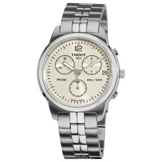 Tissot Mens PRC 100 Silver Chronograph Dial Quartz Watch
