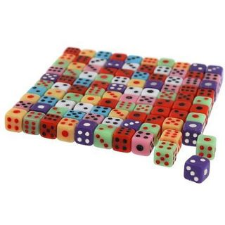 Eforcity Mini 5 mm Dice, Mixed Color, 100 piece