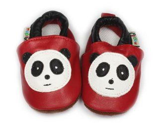 Cute Leather Soft sole Infant Toddler Baby Shoes 6 12m Panda Baby