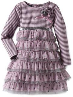 Kate Mack Girls 2 6X Lilac Fairy Net Dress: Clothing