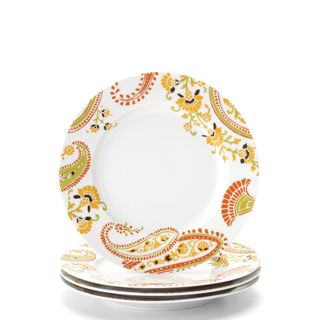 Rachael Ray Paisley 4 piece Salad Plate Set