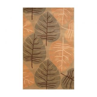 Indo Hand tufted Light Green/ Light Brown Wool Rug (5 x 8) Was $239