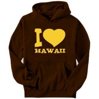 I Love Hawaii Mens Hoodie Clothing