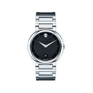 Movado Mens Stainless Steel Concerto Watch