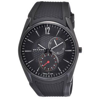 Skagen Mens Titanium Black Silicone Watch