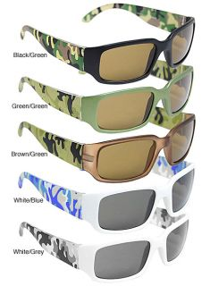 Adi Kids 6737AF 2 Girls 100 percent UV Protected Camo Sunglasses