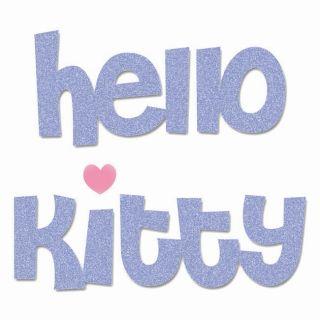 Sizzix Bigz Hello Kitty Phrase Die