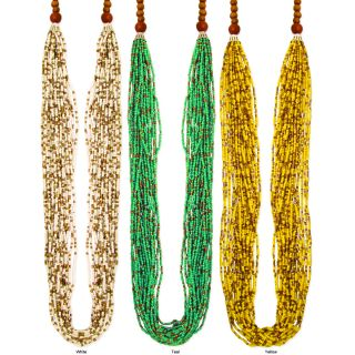Multi strand Seed Bead Long Necklace