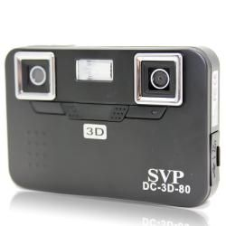 SVP DC 3D 80 Black 3D Digital Camera with 2GB SD Card
