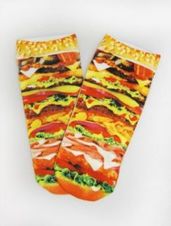 Womens Hamburger Ankle Socks Clothing