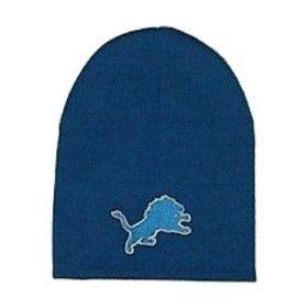 Detroit Lions NFL Blue Knit Beanie Hat Sports & Outdoors