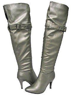 Breckelles Diane 13 Pewter Women Fashion Boot, 9 M US: Shoes