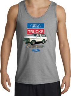 Ford Truck Bronco 4x4 Classic Adult Tanktop   Sport Grey