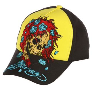 Ed Hardy Boys Skull Wig Embroidered Hat