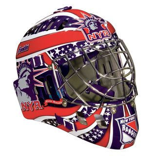 Franklin NHL Team New York Rangers SX Comp GFM 100 Goalie Face Mask