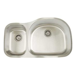 Artisan D Premium Series Undermount Shallow/ Deep Double Bowl