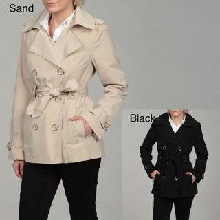London Fog Womens Double breasted Belted Coat FINAL SALE