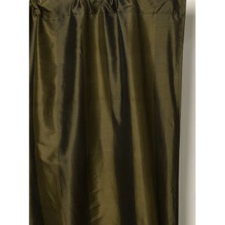 Woodland Green 100 percent Silk Taffeta Curtain (India)
