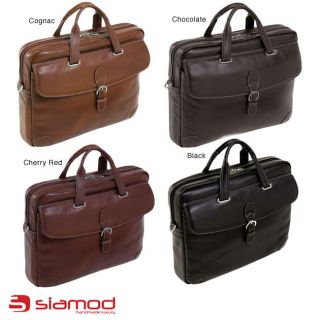 Siamod Womens Como Medium Leather Laptop Briefcase MSRP: $300.00