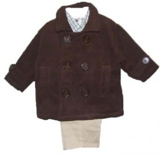 Good Lad Boys 3 Piece Infant Peacoat Jacket Set Clothing