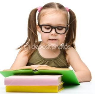 Cute little girl reading book  Stock Photo © Сергей