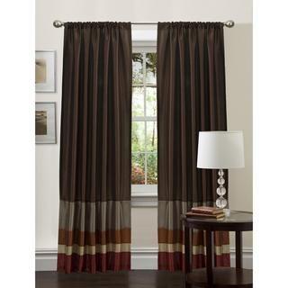 Lush Decor Red/ Gold 84 inch Iman Curtain Panel