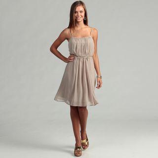 Calvin Klein Womens Khaki Bead Embellished Dress