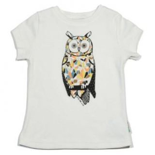 Little Paul and Joe Girls Owl Short Sleeve in White