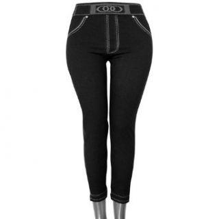 Black Knit Pants Look Stretchy Footless Leggings Clothing