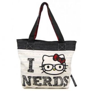 Loungefly Hello Kitty Nerd Tote   TAN Clothing