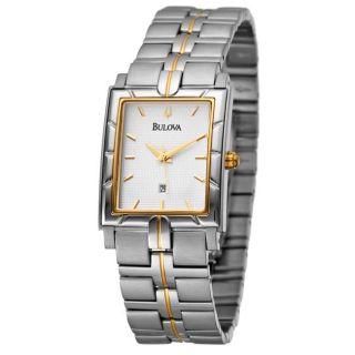 Bulova Mens Two tone Stainless Steel Quartz Watch