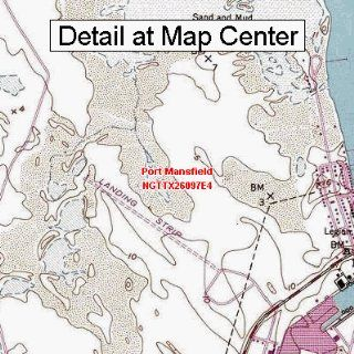 USGS Topographic Quadrangle Map   Port Mansfield, Texas