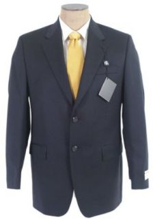 Ralph Lauren Mens 2B Solid Navy Blue Wool Sport Coat