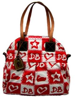 Dooney Bourke Patchwork Star Charm Marina Bag Purse Tote