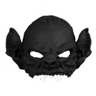 Adult Bat Demon Black Halloween Costume Half Mask