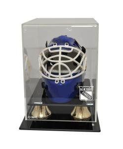 New York Rangers Mini Hockey Helmet Display Case Sports