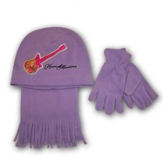 Disney Hannah Montana Girls Purple Fleece Hat, Scarf and