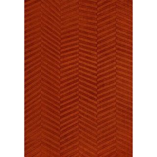 Jovi Home Burnt Orange Diagonal Hand Tufted Rug (8 x 11)
