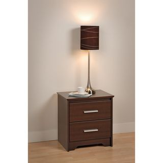Yaletown 2 drawer Espresso Night Stand