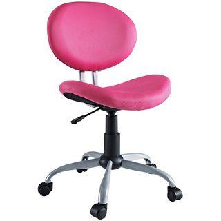 Comfort Groove Swivel Pink Mesh Task Chair
