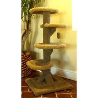 Kitty Cat 48 inch Twisty Tower Cat Tree