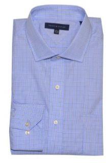 Tommy Hilfiger Men Plaid Long Sleeve Shirt (L 16.5(32 33