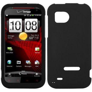 SKQUE HTC Rezound Black Rubberized Case