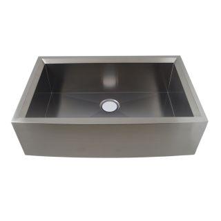 Water Creation Zero Radius Single Bowl Stainless Steel Kitchen Sink