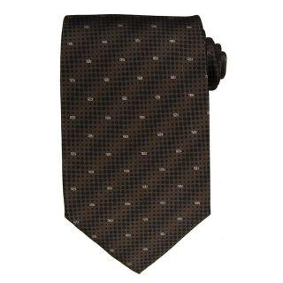 Versace Mens Dot and Greek Key Silk Tie