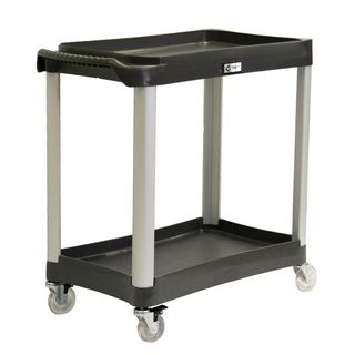 Trinity EcoStorage Black Commercial grade 2 tier Utility Cart