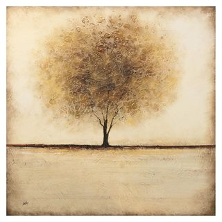 Nathalie Viens Silent Field Hand painted Canvas Art
