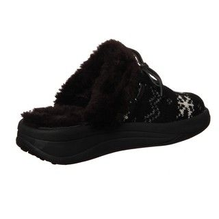 Skechers USA Womens Tone ups Chalet Bunny Slope Sweater Clogs